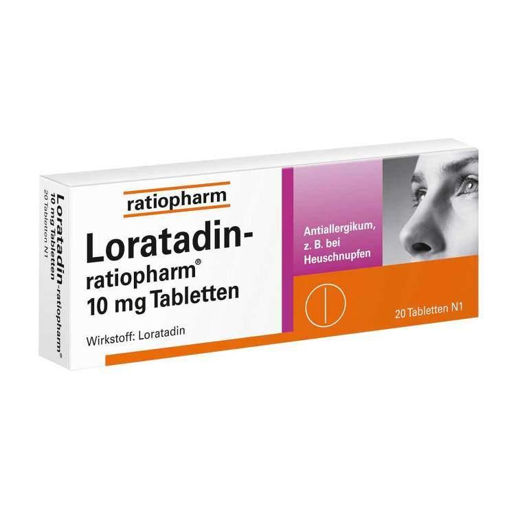 Loratadin-ratiopharm® 10 mg 20 Tbl.
