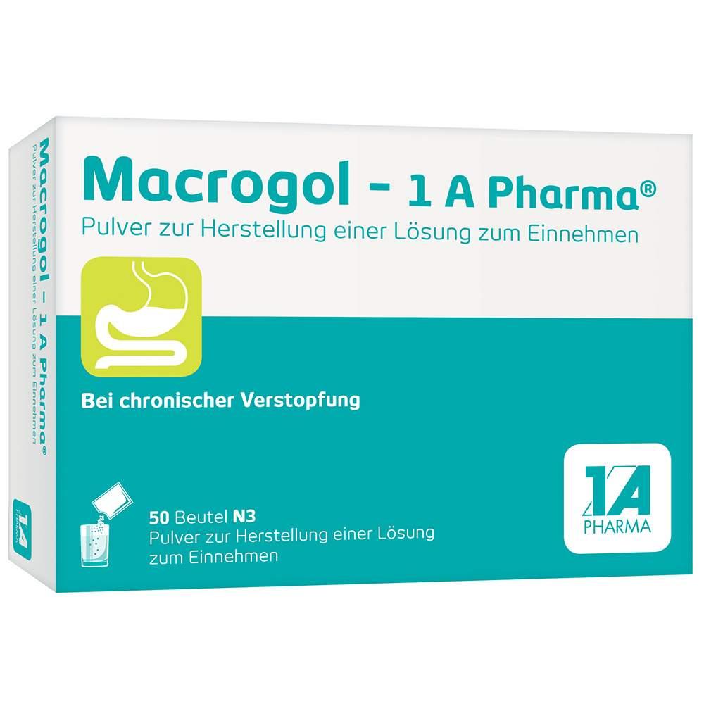 Macrogol - 1 A Pharma® Pulver zur Herstellung einer Lösung zum Einnehmen 50 Beutel