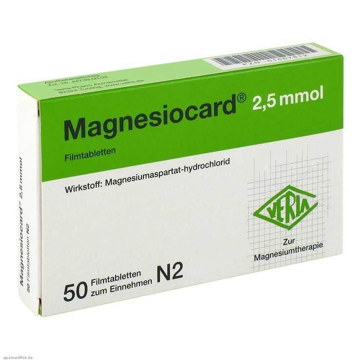 Magnesiocard® 2,5mmol 50 Filmtbl.