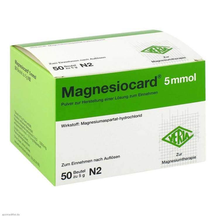 Magnesiocard® 5mmol 50 Btl. Pulv.