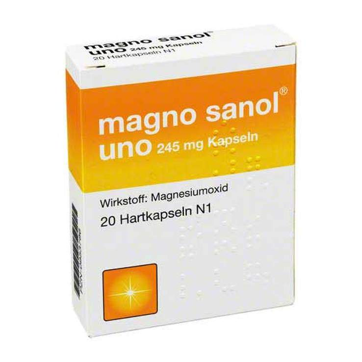 magno sanol® uno 245mg 20 Hartkaps.