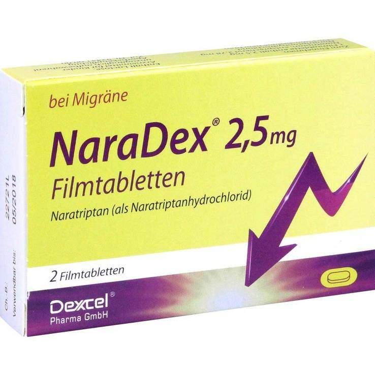 NaraDex 2,5 mg 2 Filmtabletten