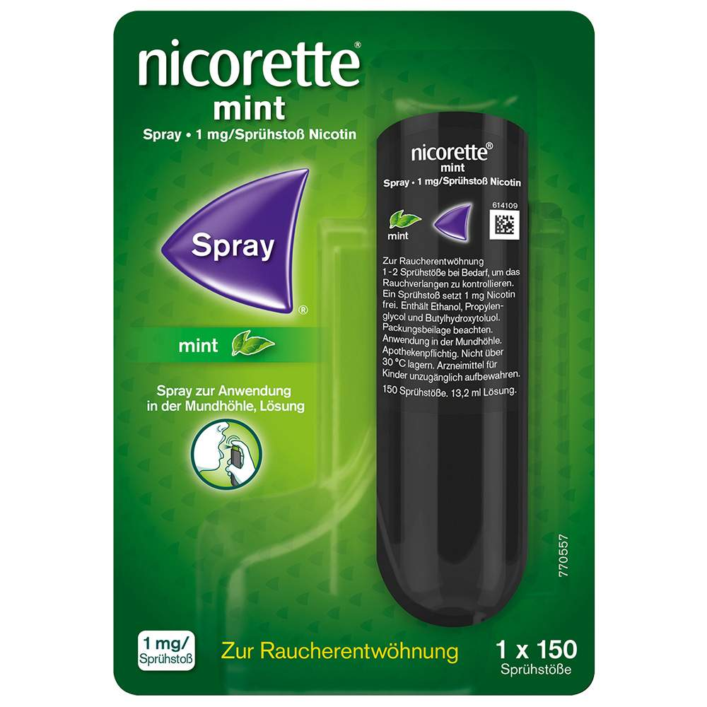 Nicorette Mint Spray 1 mg/Sprühstoß 13,2ml 150 Sprühstöße