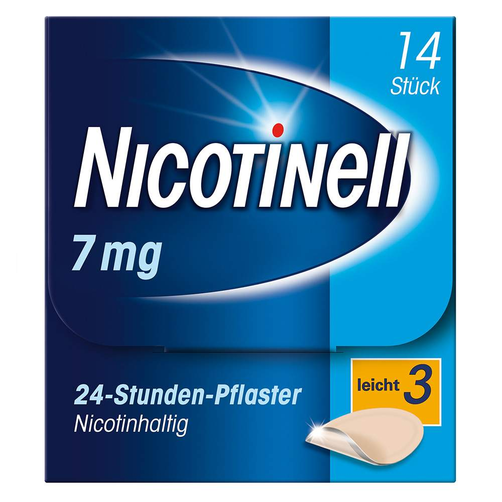 Nicotinell® 7 mg/24-Stunden-Pflaster, 14 Pflaster