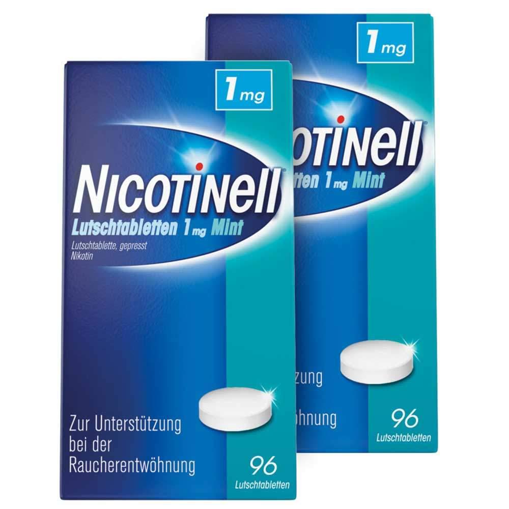 Nicotinell® Lutschtabletten 1 mg Mint 2x96St.