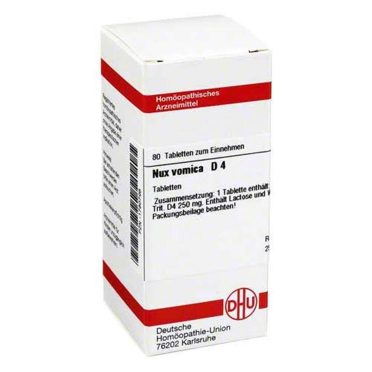 Nux vomica D4 DHU 80 Tbl.