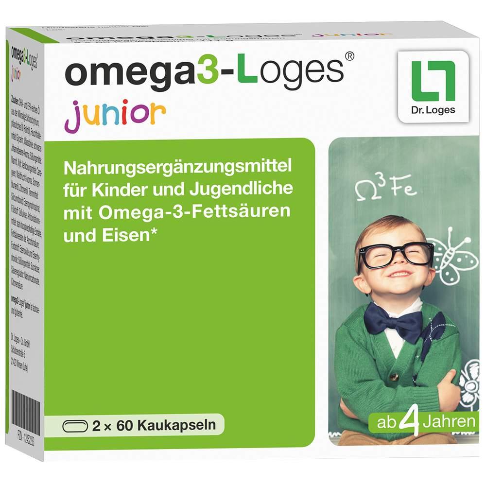 omega3-Loges® junior 120 Kaukapseln