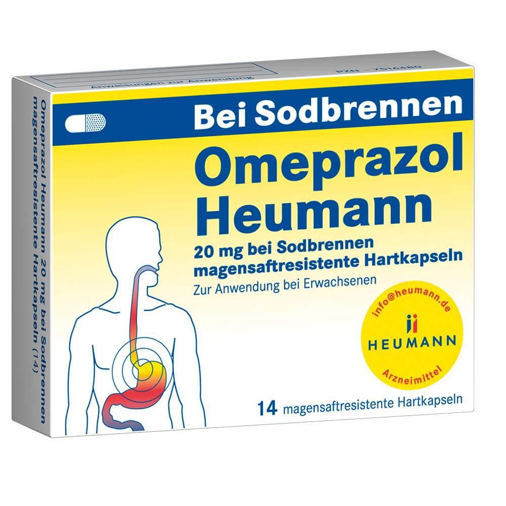 Omeprazol Heumann 20mg b. Sodbrennen 14 msr. Hartkaps.
