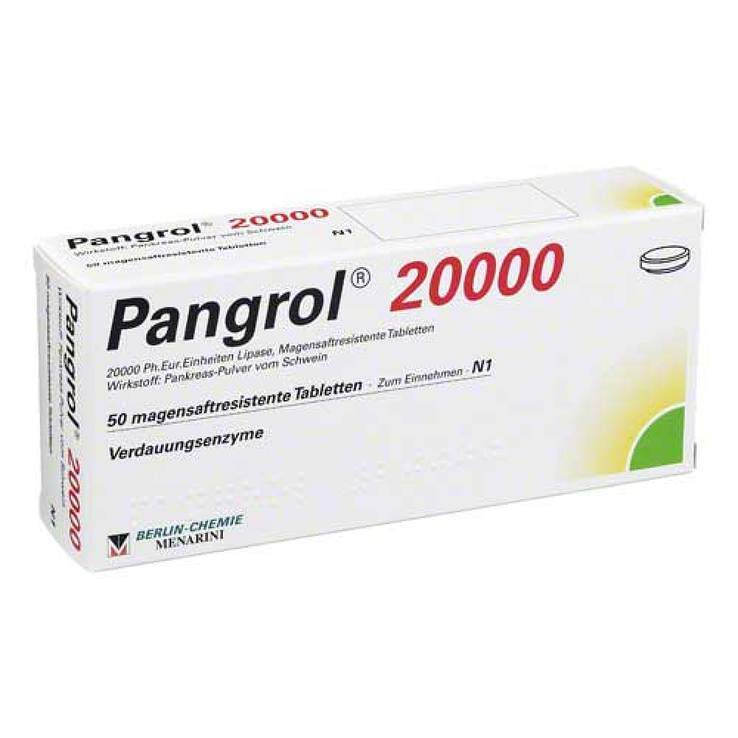 Pangrol® 20 000 Ph.-Eur.-Einheiten 50 msr. Tbl.