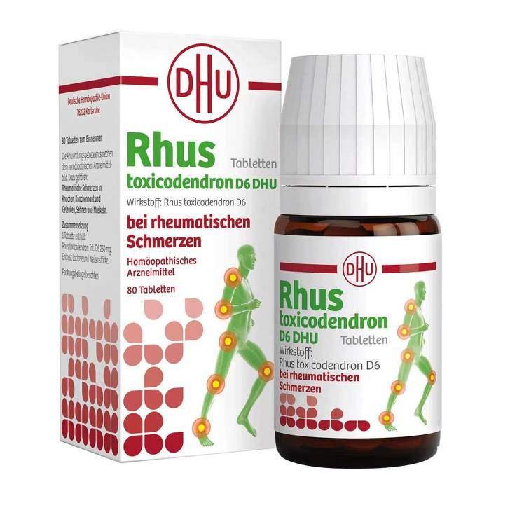 Rhus toxicodendron D6 DHU bei rheumatischen Schmerzen 80 Tbl.