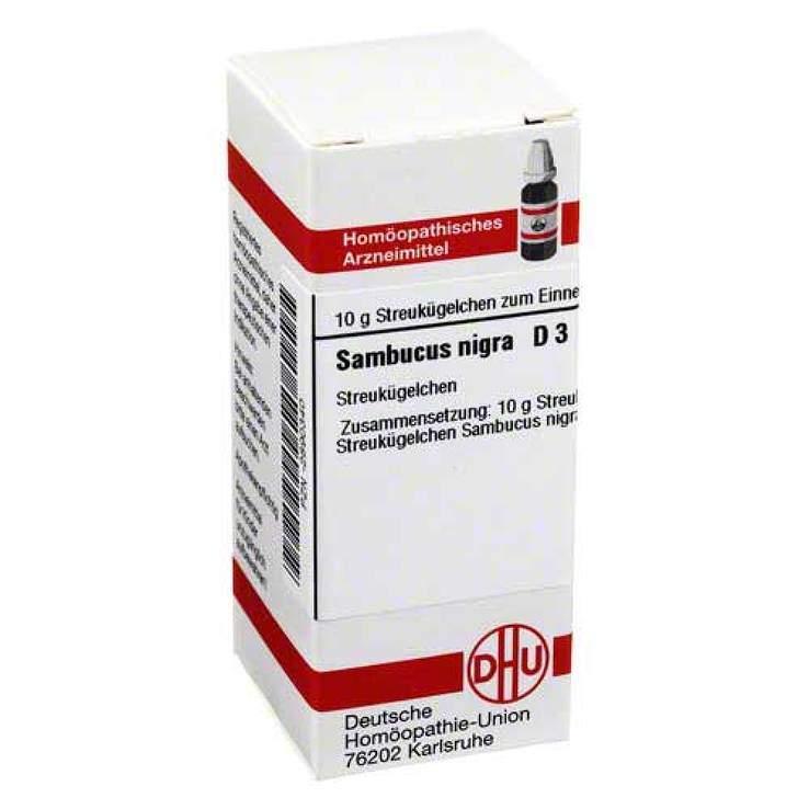 Sambucus nigra D3 DHU 10 g Glob.