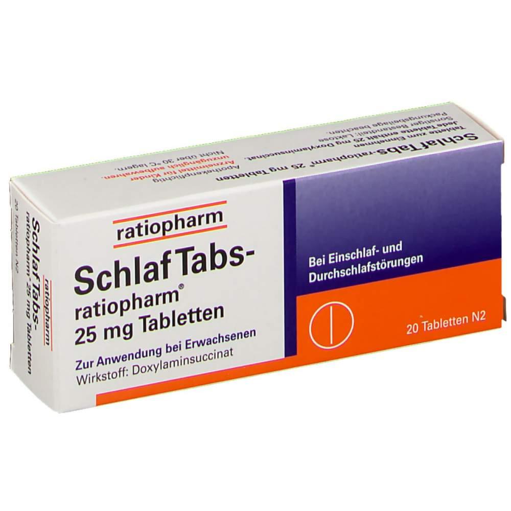 SchlafTabs-ratiopharm® 25mg 20 Tbl.