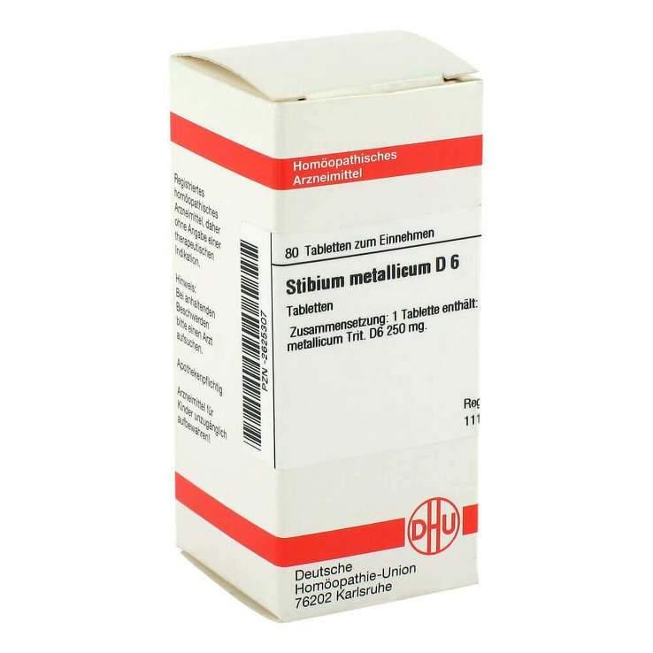 Stibium metallicum D6 DHU 80 Tbl.