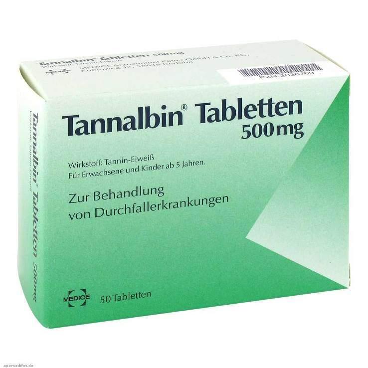 Tannalbin® Tabletten 500 mg 50 Tabletten