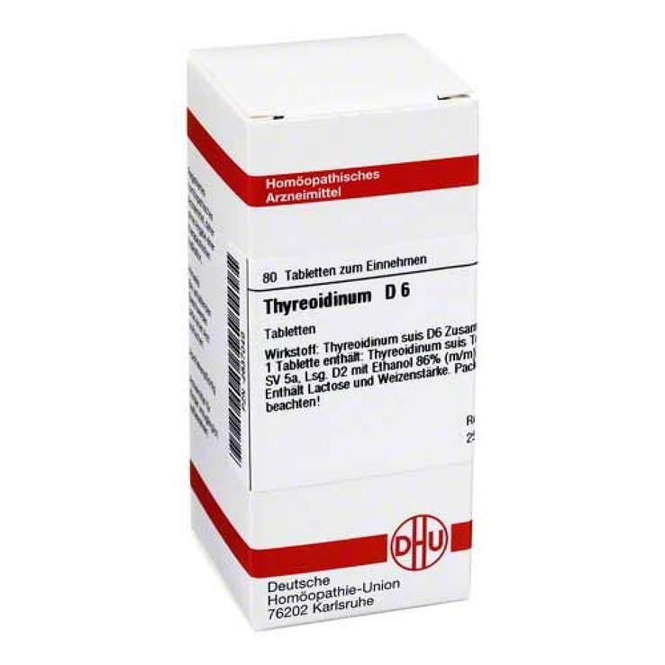Thyreoidinum D6 DHU 80 Tbl.