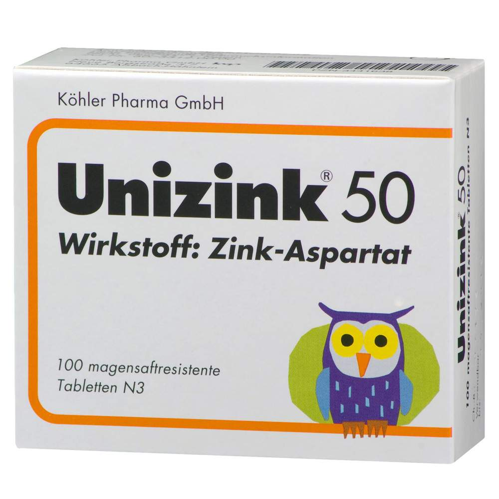 Unizink® 50 magensaftres. Tbl. 100 St.