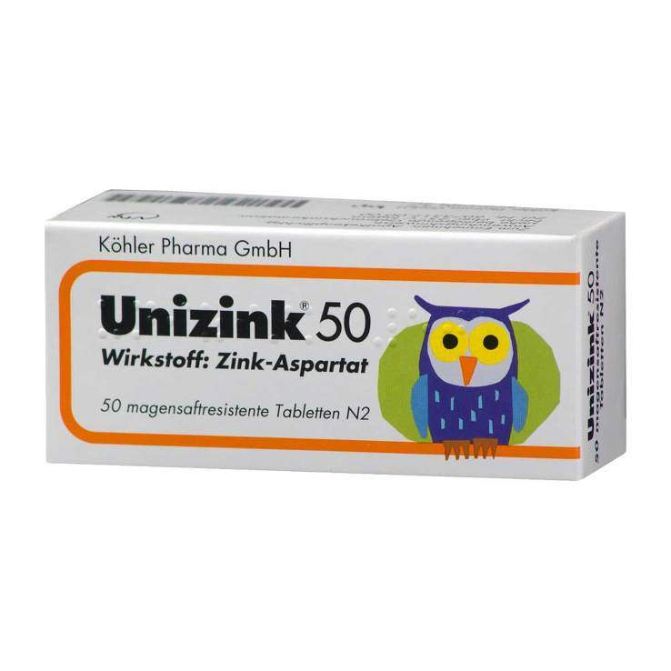 Unizink® 50 magensaftres. Tbl. 50 St.