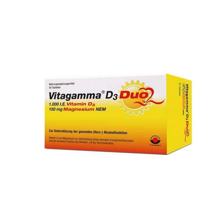Vitagamma® D3 Duo 1.000 I.E. Vitamin D3 150 mg Magnesium 50 Tbl.