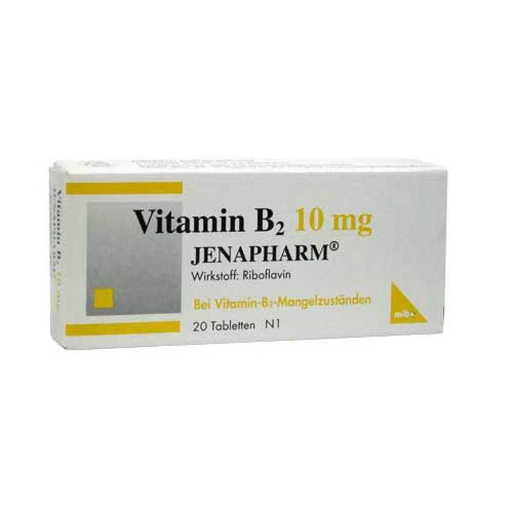 Vitamin B2 10mg JENAPHARM® 20 Tbl.