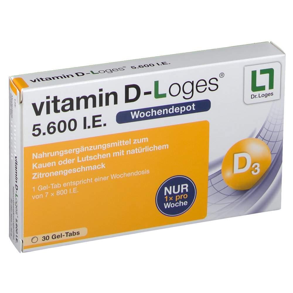 vitamin D-Loges® 5.600 I.E. 30 Gel-Tabs