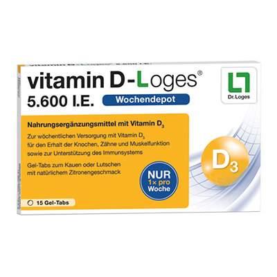 vitamin D-Loges® 5.600 I.E. Gel-Tabs