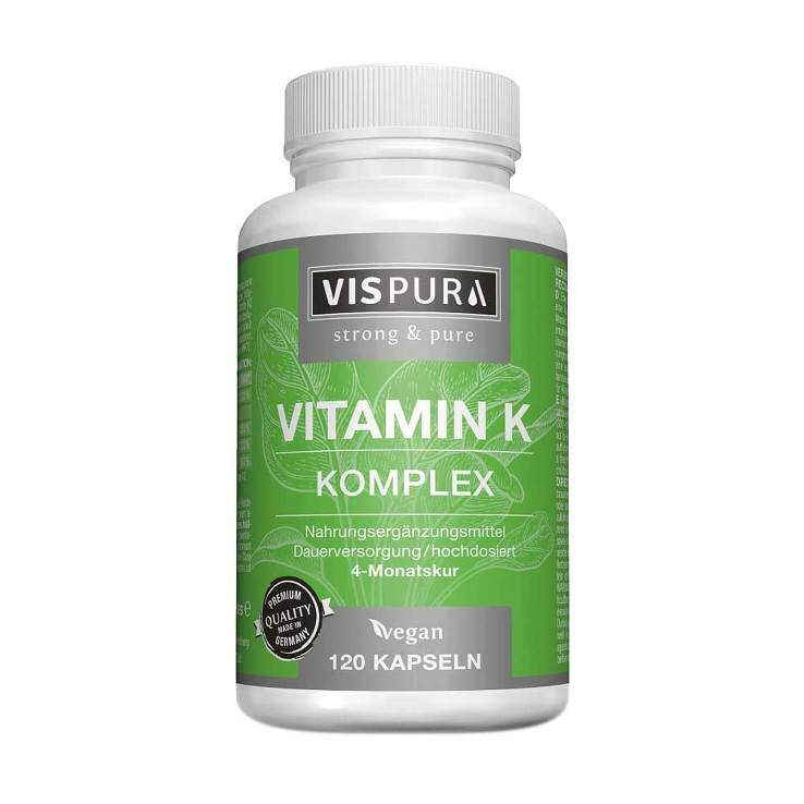 Vitamin K Komplex hochdosiert K1 + K2 Menaquion MK 4 MK 7 120 vegane Kapseln