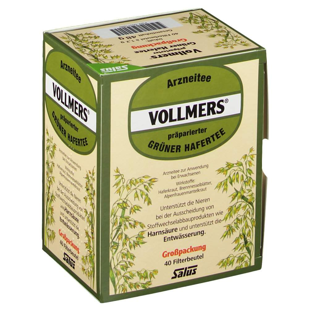 Vollmers präparierter Grüner Hafertee 40 St.