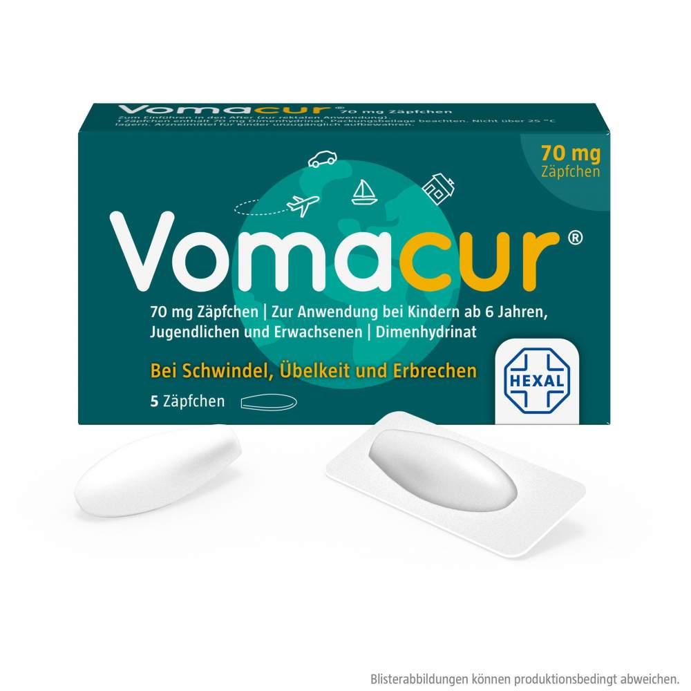Vomacur® 70mg 5 Zäpfchen