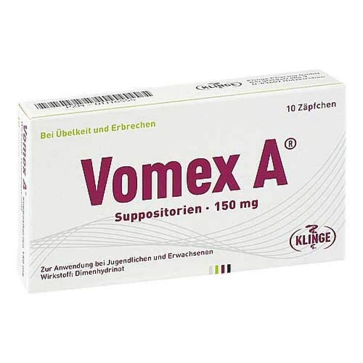 Vomex A® Suppositorien, 150 mg 10 Zäpfchen