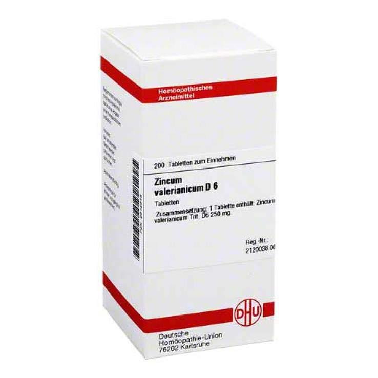 Zincum valerianicum D6 DHU 200 Tbl.