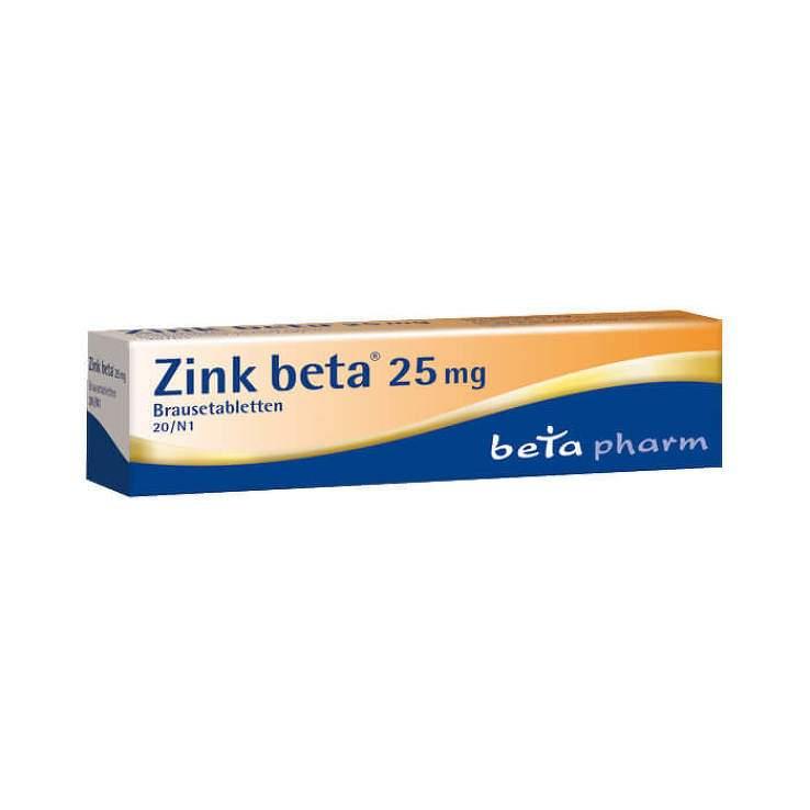Zink beta® 25 mg, 20 Brausetabletten