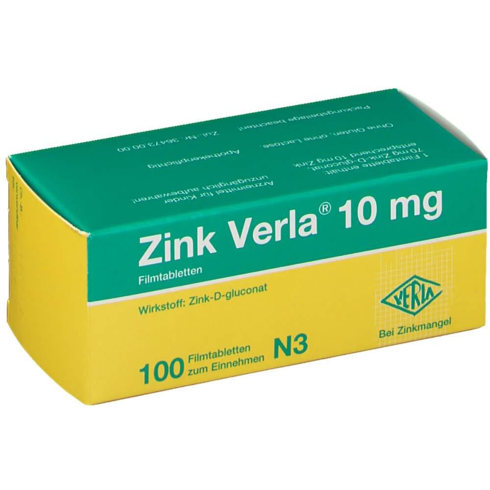 Zink Verla® 10mg 100 Filmtbl.