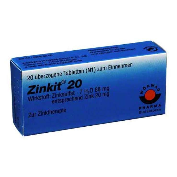 Zinkit® 20 20 überzog. Tbl.