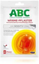 ABC Wärme Pflaster sensitive Hansaplast med 4 Pflaster
