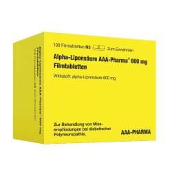 Alpha-Liponsäure AAA-Pharma 600 mg 100 Filmtbl.