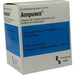 Ampuwa®, Lösungsmittel zur Herstellung von Parenteralia 20 Polyethylenampullen 20 ml