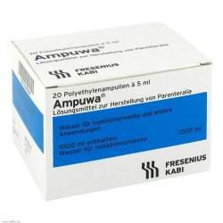 Ampuwa®, Lösungsmittel zur Herstellung von Parenteralia 5 Polyethylenampullen, 5ml