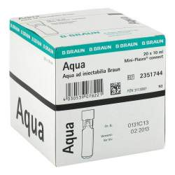 Aqua ad inject. Miniplasco connect Amp.20x10ml