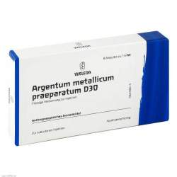 Argentum metall. praep. D30 Weleda 8x1ml Amp.