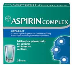 Aspirin® Complex 500mg/30mg Gran. z. Herst. e. Susp. z. Einn. 10 Btl.