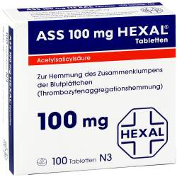 ASS 100mg HEXAL® 100 Tbl.