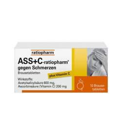 ASS+C-ratiopharm® gegen Schmerzen 10 Brausetbl.