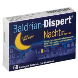 Baldrian-Dispert® Nacht zum Einschlafen 50 Tbl.