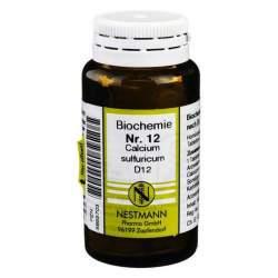 Biochemie 12 Calc. sulf. Nestmann D12 100 Tbl.