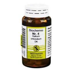 Biochemie 4 Kalium chlor. Nestmann D6 100 Tbl.