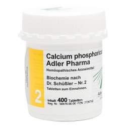 Biochemie Adler 2 Calcium phosph. D6 400 Tbl.