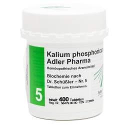 Biochemie Adler 5 Kalium phosph. D6 400 Tbl.