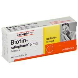 Biotin-ratiopharm® 5 mg 30 Tbl.