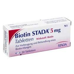 Biotin STADA® 5mg 20 Tbl.