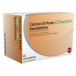 Calcium D3 Puren 1000 mg/880 I.E. 90 Kautbl.